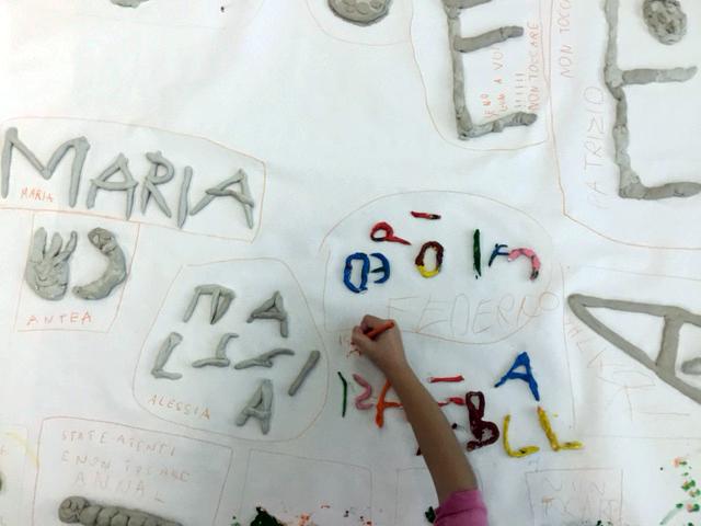 lettere in creta prima elementare